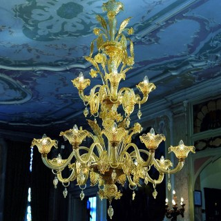 Artemisia Murano glass chandelier