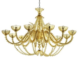 Champagne Murano glass chandelier
