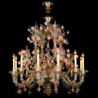 Charlotte Murano glass chandelier