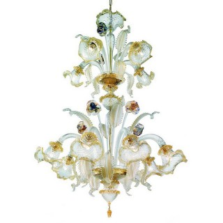 Canal Grande two tier Murano glass chandelier