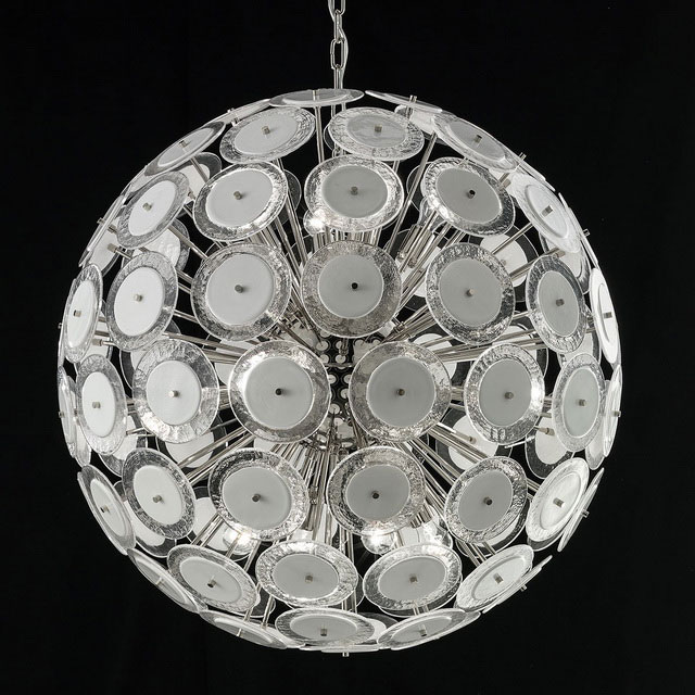 Globo Murano glass chandelier