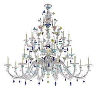 Aurora 24 lights classic Murano chandelier