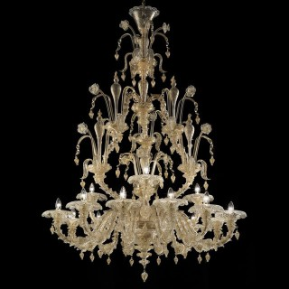 Magnifico two tier Murano chandelier