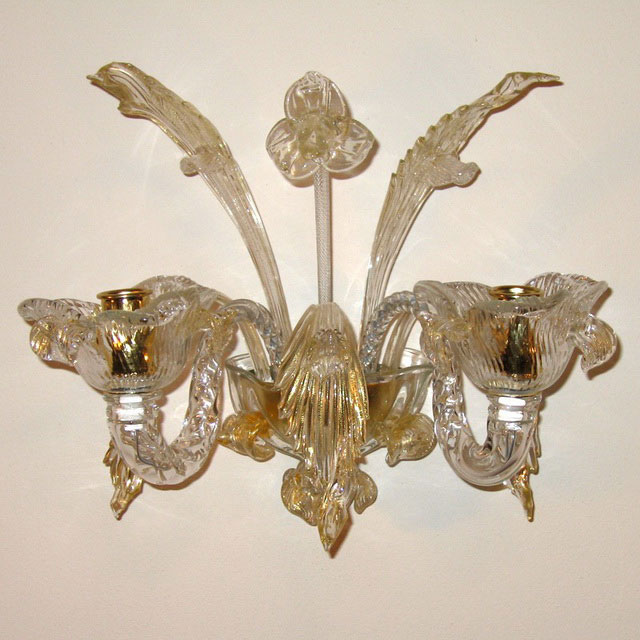 Accademia Murano glass sconce