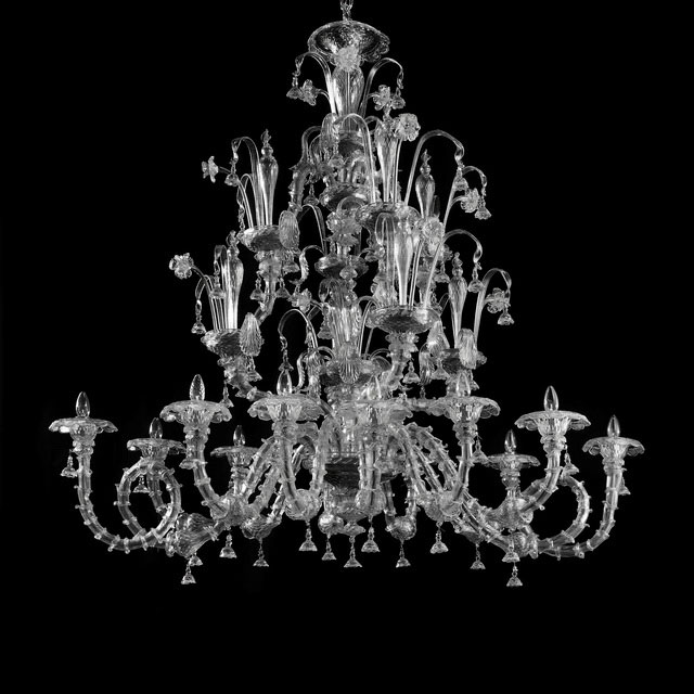 Magnifico Murano chandelier - oval shape